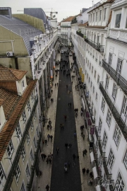 Vista sobre Lisboa - Rua do Carmo