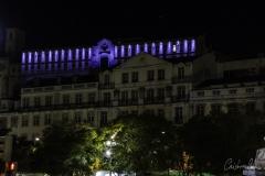 Rossio - Vista do Convento do Carmo iluminado