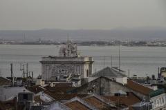 Vista sobre Lisboa - O Arco da Rua Augusta e o Tejo