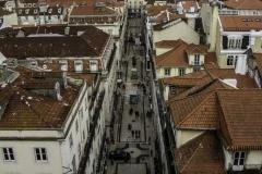 Vista sobre Lisboa - Rua de Sta. Justa e o Castelo